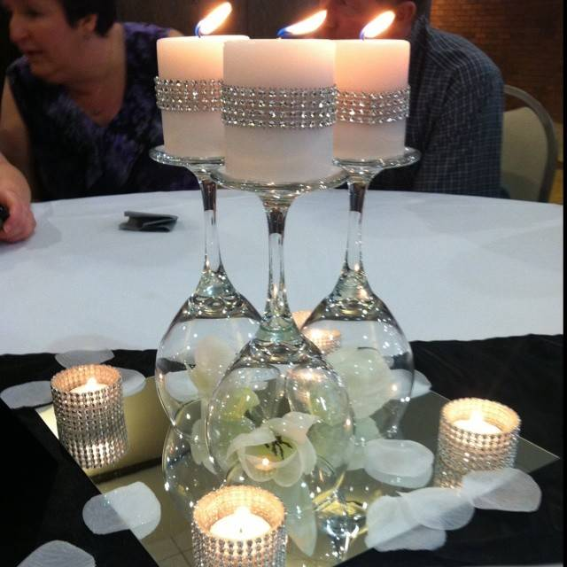 Interesting Diy Wine Glass Centerpieces Lgili Bilgili