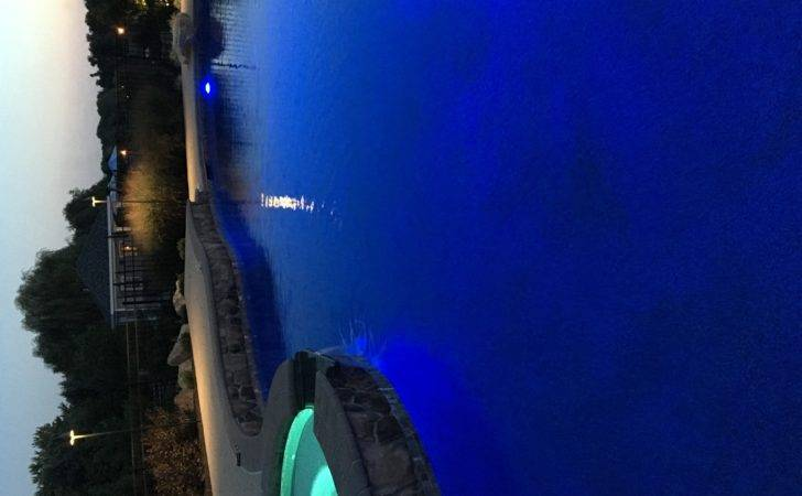 Interesting Lighting Ideas Ground Pools New Blue
