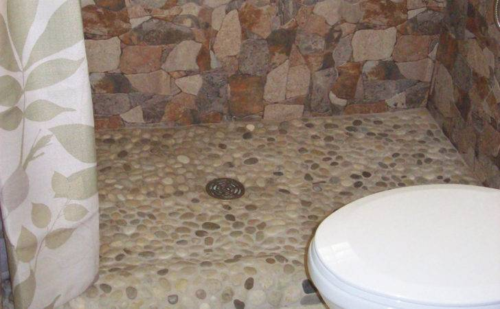 Interesting Pebble Tile Ideas Bathroom