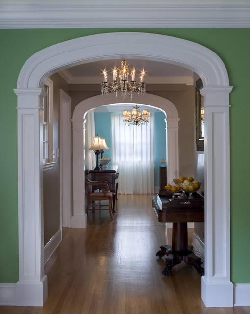Interior Arch Traditional Hall Philadelphia Cushing Custom