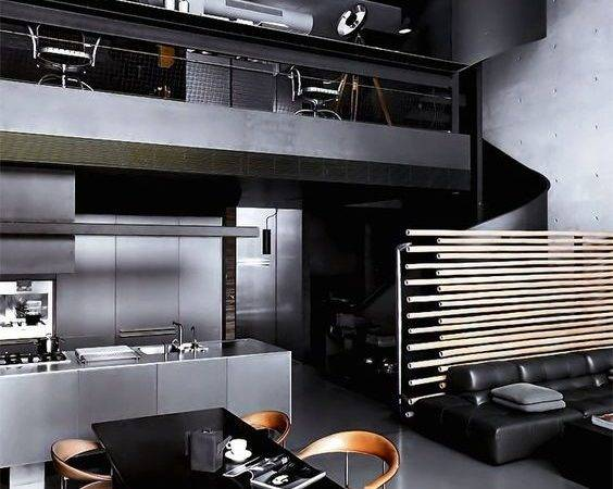 Interior Design Dark Black House