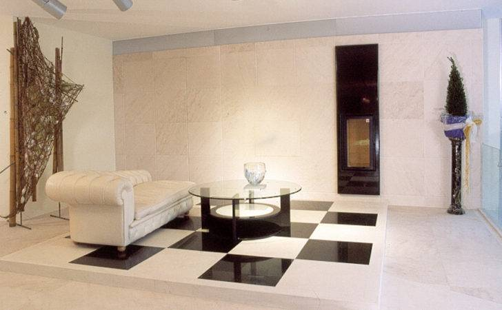 Interior Design Livingroom Wall Installation Beige Limestone