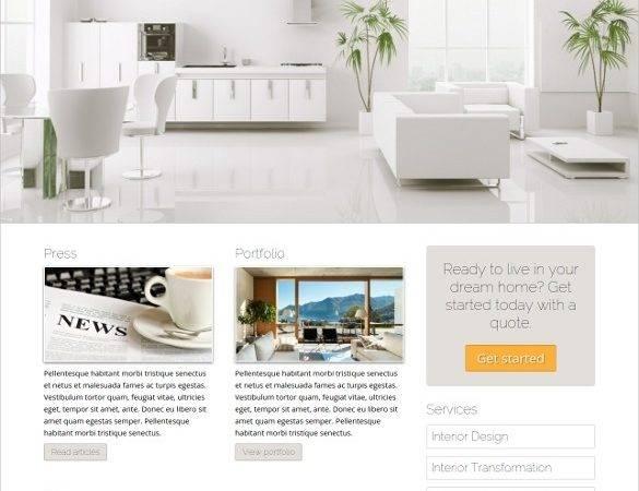 Interior Design Website Themes Templates