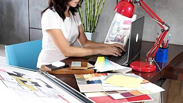 Interior Designer Working Footage Video Getty