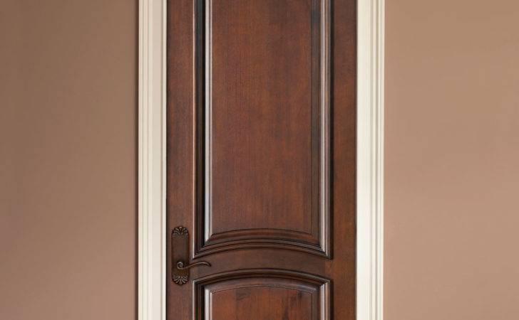 Interior Door Custom Single Solid Wood Walnut Finish Artisan