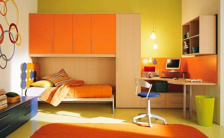 Interior Exterior Plan Orange Themed Kids