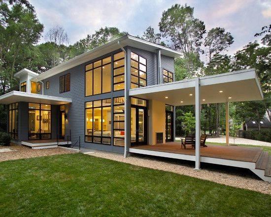 Interior Fascinating Riverside Residence Exterior Design Modern Porch