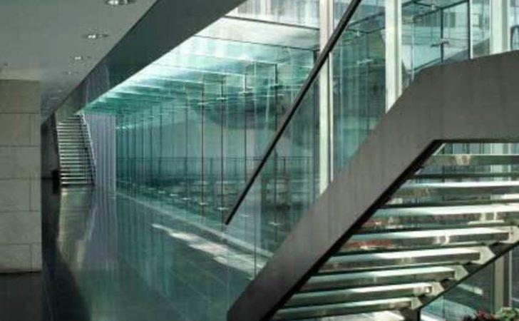 Interior Glass Design Solid Balustrade Staircase Modern