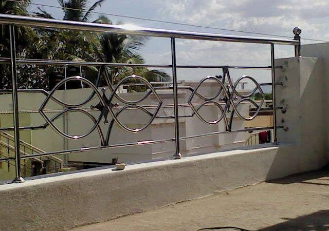 Interior Iron Grill Design Balcony Handrail Html