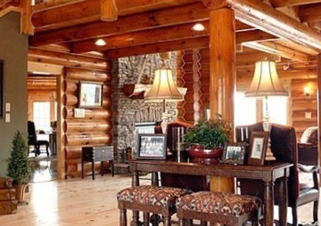 Interior Log Cabin Interiors Pinterest