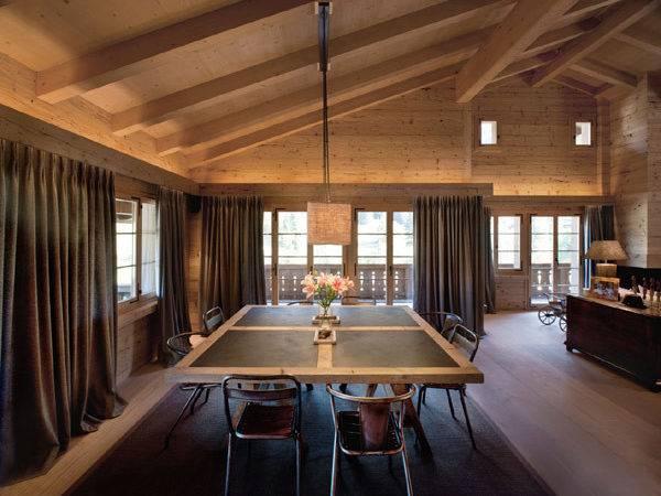 Interior Modern Chalet Soft Textures Clean Lines Gstaad
