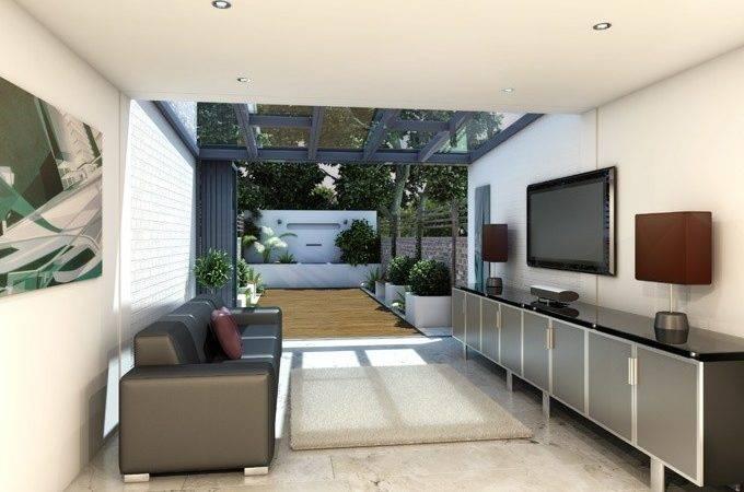 Interior Modern Glass Conservatory Cgi Visualisations Pinterest