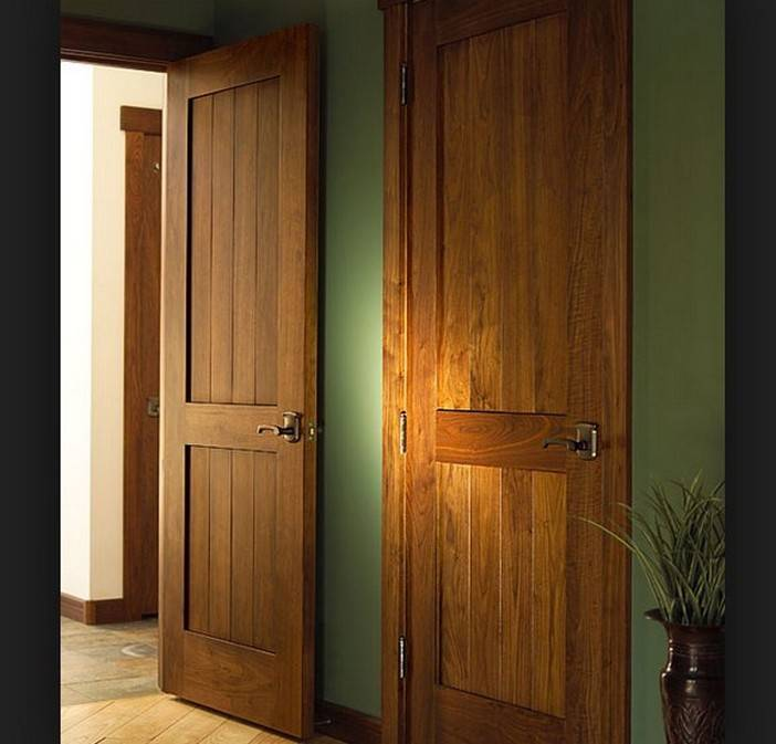 Interior Rustic Wood Doors Design Home Decor