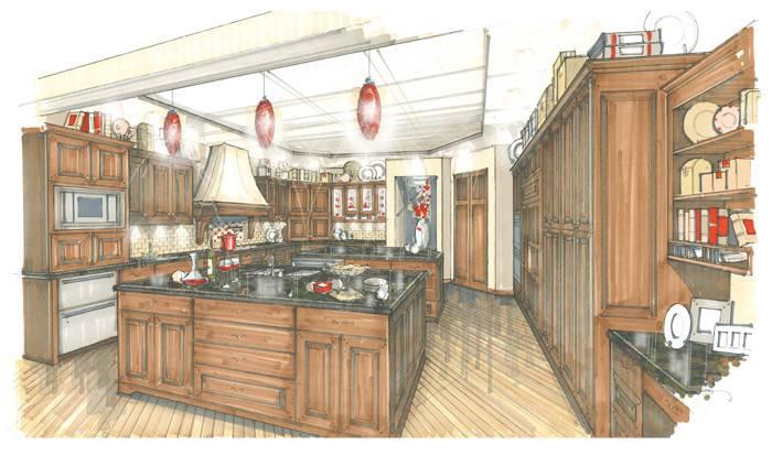 Interior Sketching Landscape Furniture Graphic Media Interiors
