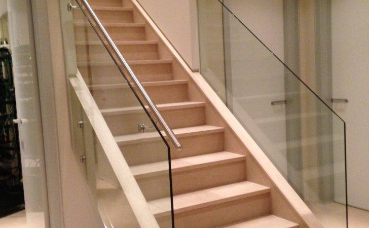 Interior Stairs Glass Railing Design Balcony Quotes