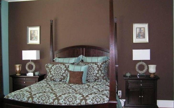 Interior Walls Stripped Bedrooms Blue Brown Bedroom