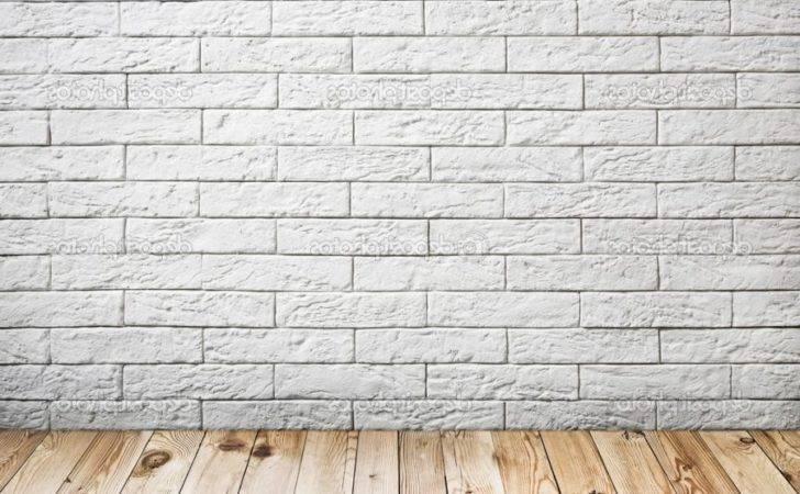 Interior White Brick Wall Wood Floor Source
