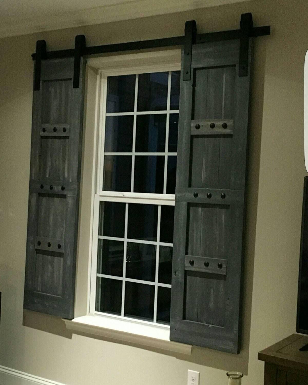 Interior Window Barn Shutters Sliding