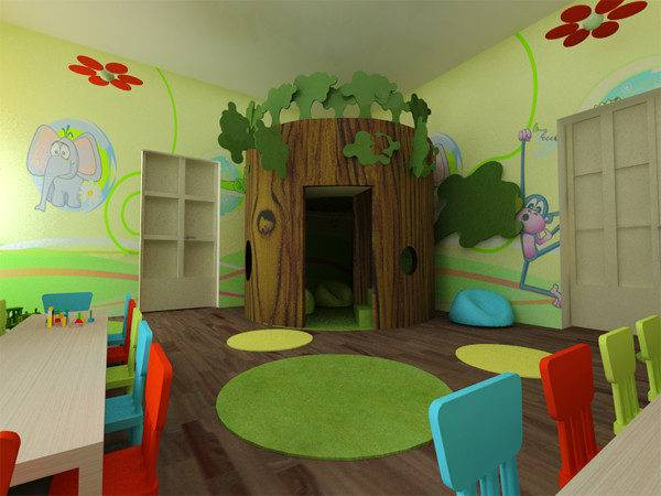 Interiors Interior Exterior Decoration School Kindergarten Play