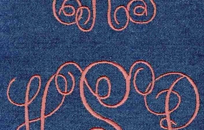 Interlocking Satin Stitch Monogram Jolson Designs