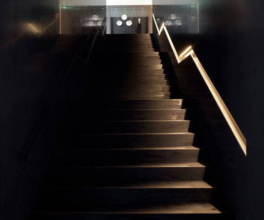 Into Handrail Stair Cast Directional Light Onto Tread