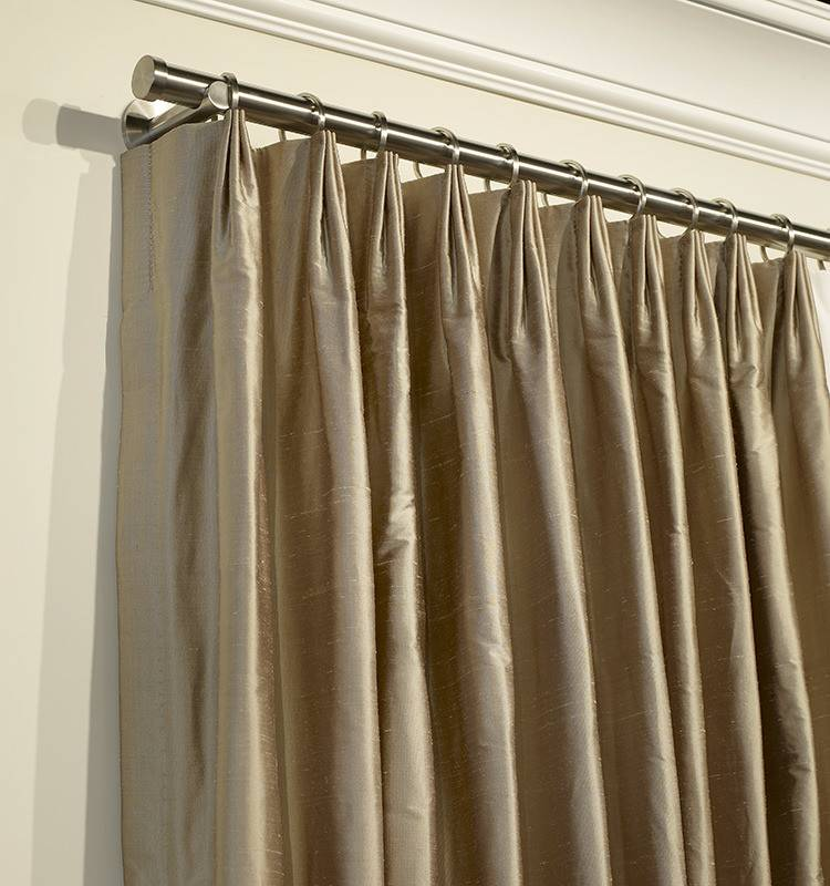 Inverted Pleat Drapery Panels Hand Made Custom Sheer Drapes Roman