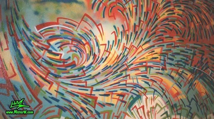 Ionenstrudel Abstract Mural Painting Werner Skolimowski Kassel
