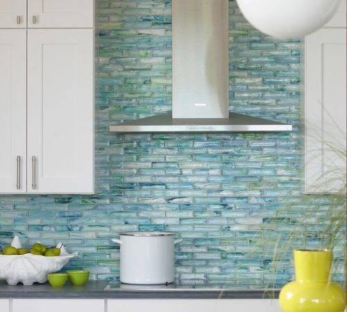 Iridescent Tile Shimmer Backsplash