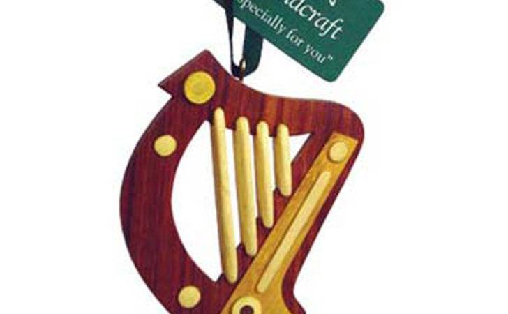 Irish Wooden Harp Hanging Decoration Ebay
