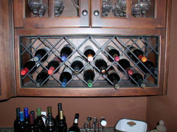 Iron Lattice Wine Rack Rods Made Order