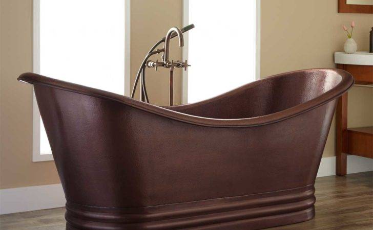 Isabella Copper Double Slipper Clawfoot Tub Bathroom