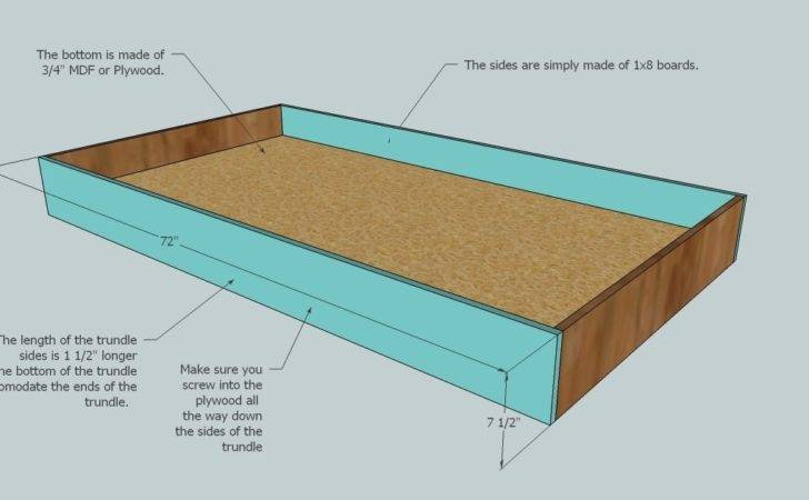 Isau Wood Trundle Bed Plans