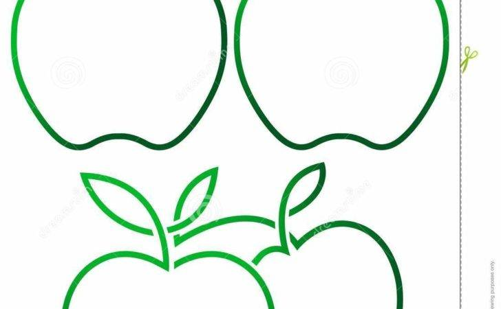 Isolated Illustrated Green Apple Designs