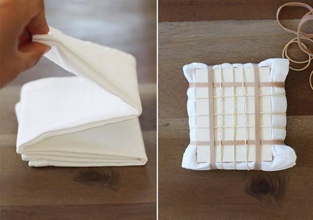 Itajime Shibori Known Shape Resist Technique Start Fold