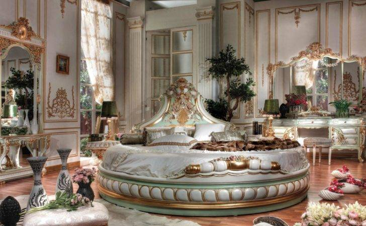 Italian Bed Room Round Shapetop Best Classic Furniture