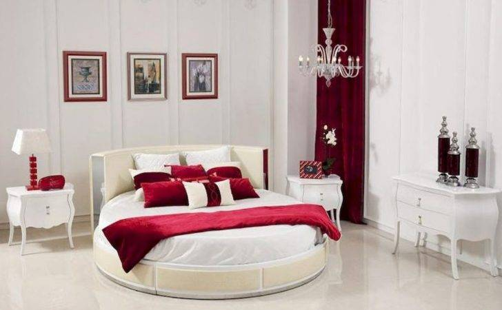 Italian Bedroom Set Modern Round Bed