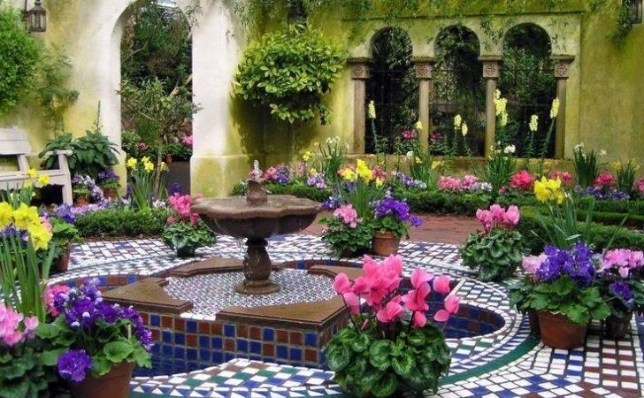 Italian Courtyard Courtyards Pinterest