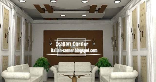 Italian False Gypsum Ceiling Design Suspended
