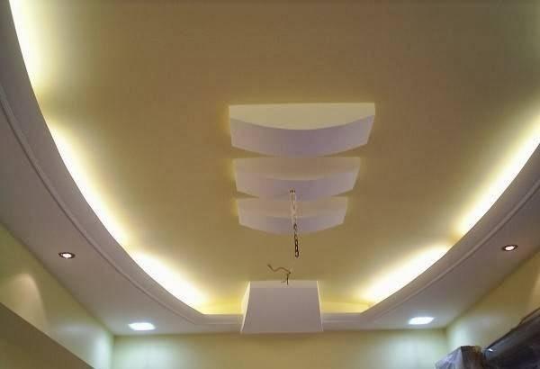 Italian Gypsum Board Roof Designs False Ceiling