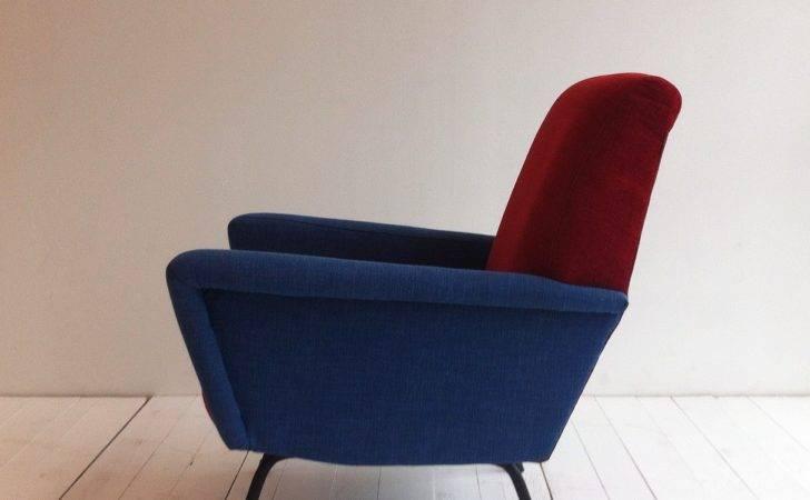 Italian Red Blue Armchair Sale Pamono