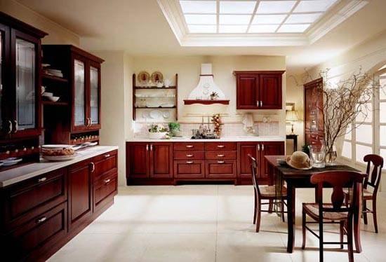 Italian Style Wooden Kitchen Design Golea Collection