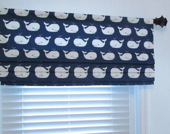 Items Similar Custom Made Nautical Faux Roman Shade Children Baby