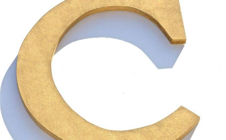 Items Similar Custom Wood Gold Letter Wall Decor Letters Chic