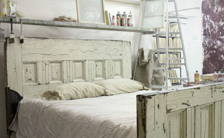 Items Similar Queen Sized Reclaimed Wooden Door Bed Frame Etsy