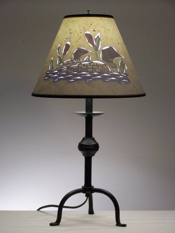 Items Similar Rustic Loon Table Lamp Etsy