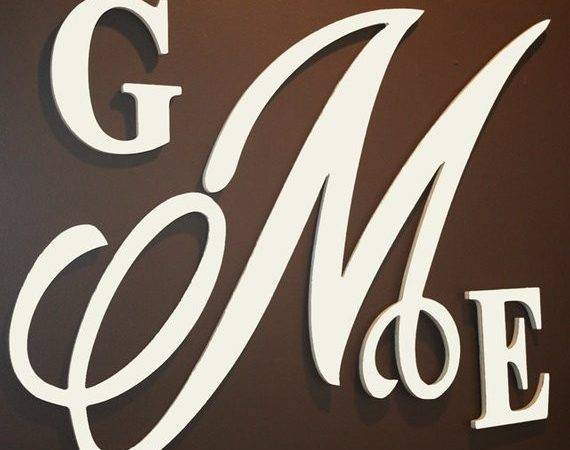Items Similar Solid Color Wooden Monogram Wall Letters
