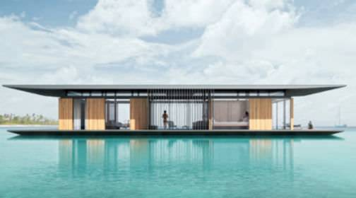 Its Slender Shape Makes Houseboat Very Elegant