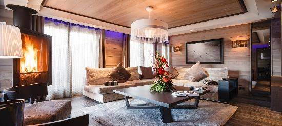 Jade Living Room Grandes Alpes Private Hotel Spa