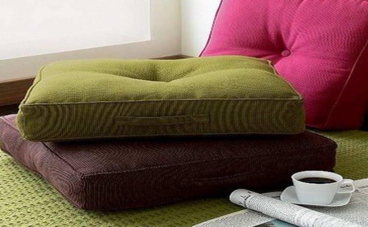 Japanese Floor Pillows Style Wooden