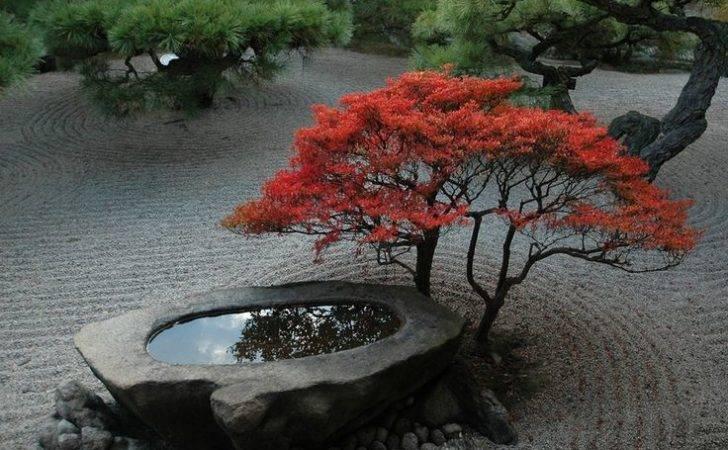 Japanese Garden Stone Basin Outdoor Pinterest